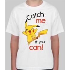 Детская футболка с покемоном catch me