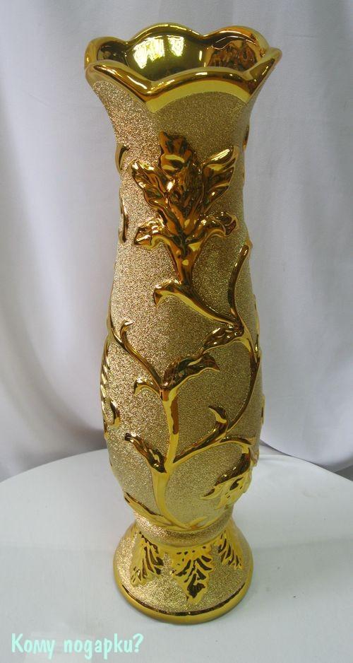 Ваза керамическая золото