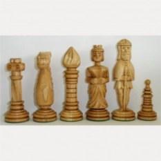 Комплект шахматных фигур Резной дуб