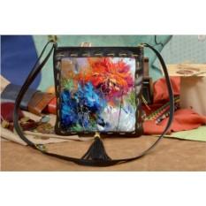 Женская сумка-планшет с принтом Весенний взрыв