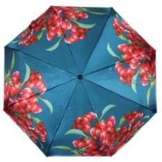 Бирюзовый женский зонт с принтом Flioraj