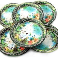 Набор из 6 тарелок Полянка