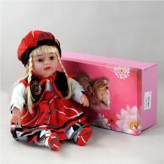 Декоративня виниловая кукла в берете