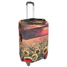 Большой чехол для чемодана Подсолнухи