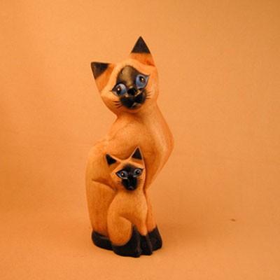 Статуэтка «Кошка сиамская с котёнком»