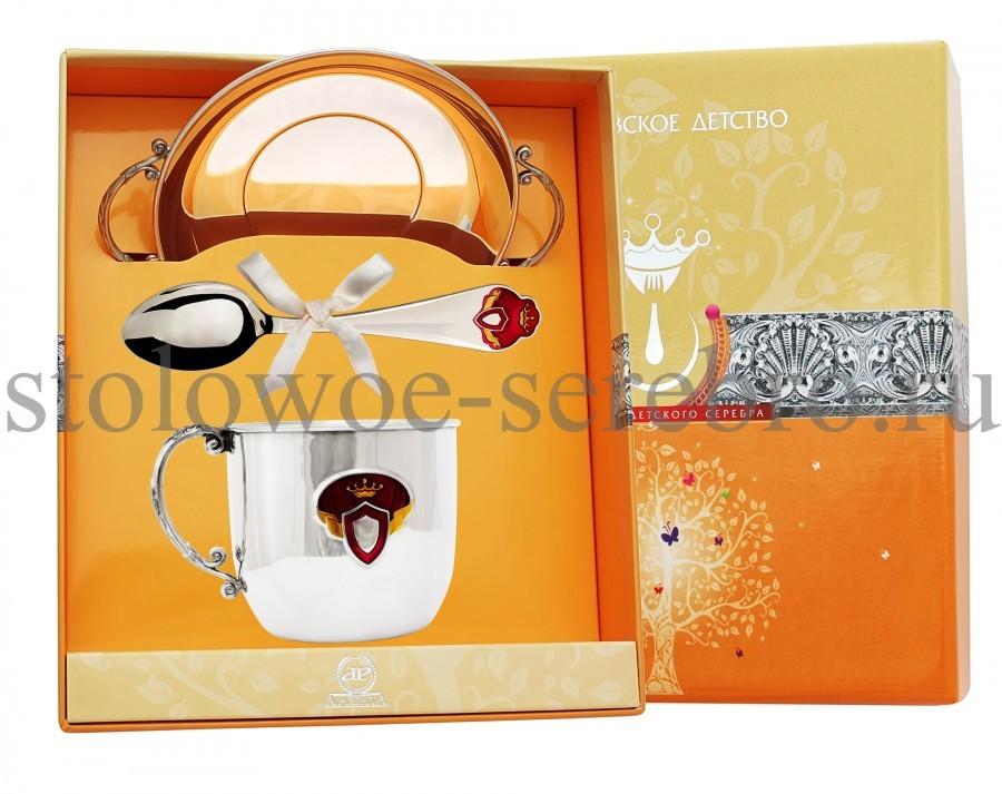Серебряный столовый набор Принцесса №107