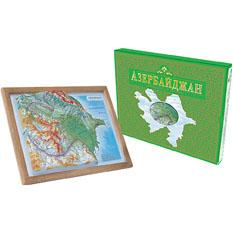 Объёмная карта «Азербайджан»