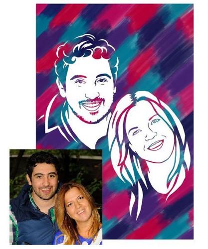 Рисунок по фотографии семьи своими руками