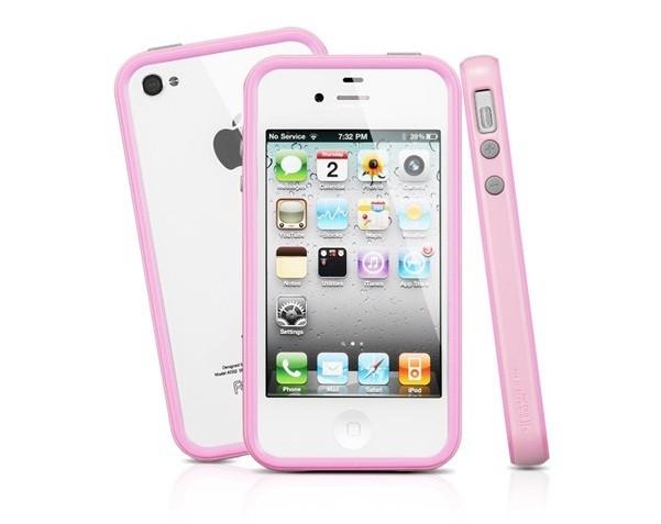 Бампер SGP Neo Hybrid 2S Pastel Series для iPhone 4S/4 + 2 пленки, розовый