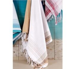 Бежевое банное полотенце