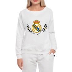 Белый женский свитшот Реал рвет Ювентас