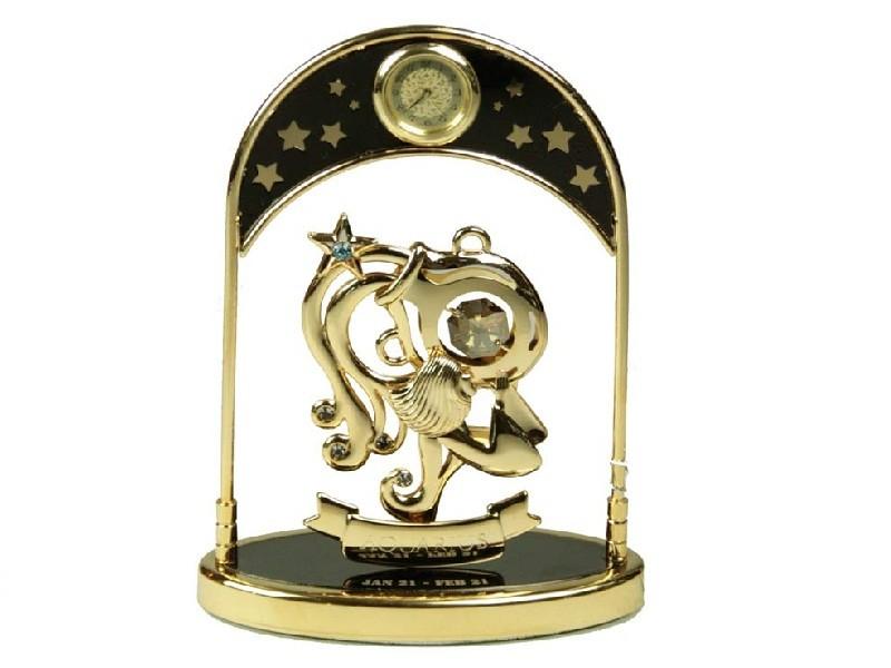 Декоративная фигурка с часами Знак зодиака Водолей
