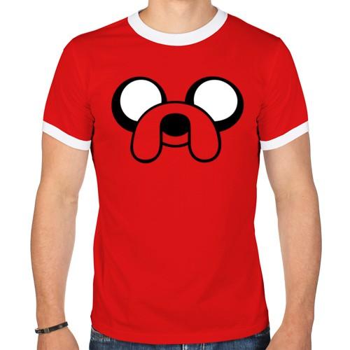 Мужская футболка рингер Собака Джейк