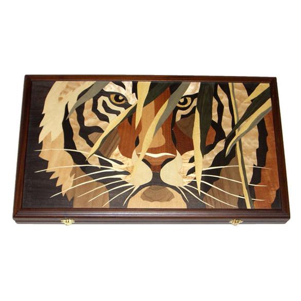 Элитные нарды «Тигр в камышах»