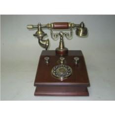 Деревянный кнопочный телефон ''Лондон'' с радио