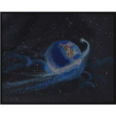Картина с кристаллами Сваровски Земля с кометой