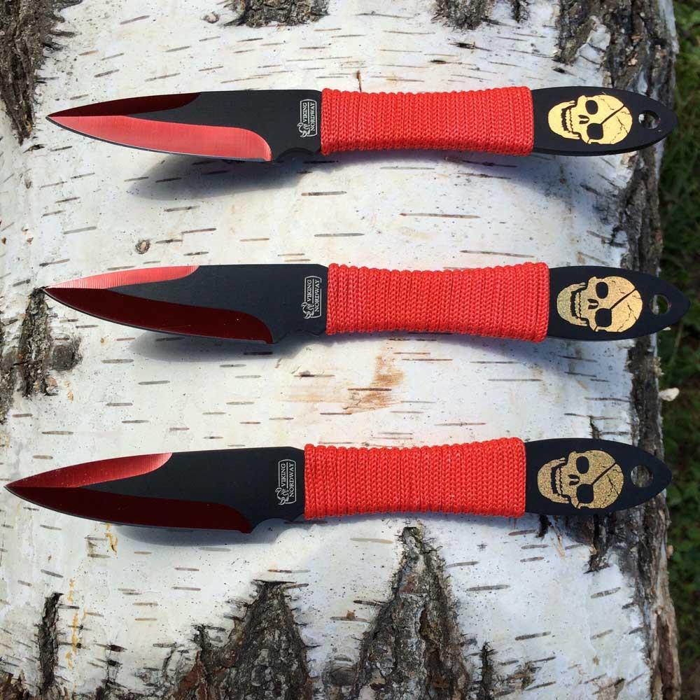 Набор метательных ножей Веселый роджер