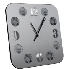 Алюминиевые часы с круглыми фоторамками Плате