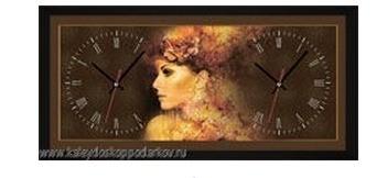 Настенные часы из песка Дама