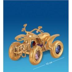 Фигурка с кристаллами Swarovski Мотоцикл 4-х колесный