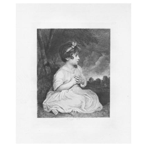 Гравюра «Портрет девочки с бантом»