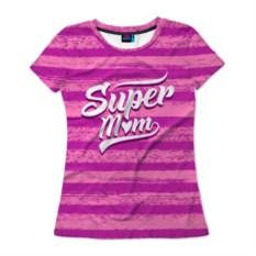 Женская футболка 3D Super mom