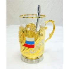 Подстаканник Герб и Флаг РФ