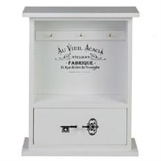Белая ключница с ящиком