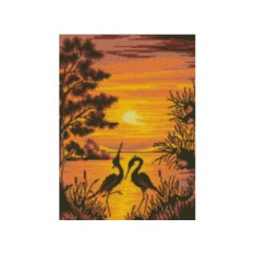 Набор для вышивки стразами «Цвета заката»