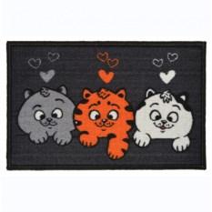 Цветной придверный коврик Котята