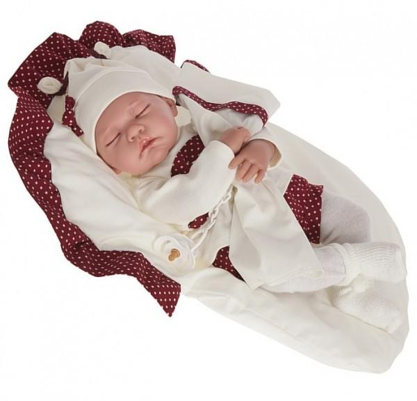 Озвученная кукла-младенец Рамона в гранатовом