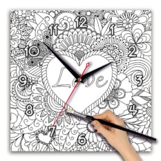 Часы-раскраска Love