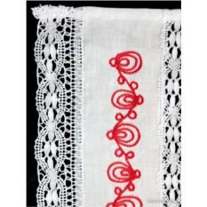 Хлопковое полотенце с вышивкой (вологодское кружево)