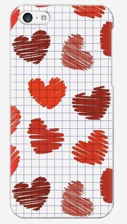 Пластиковый чехол-накладка для iphone 5C, сердца