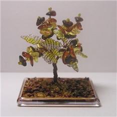 Дерево из натурального янтаря в миниатюре