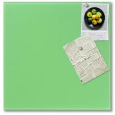 Стеклянная зеленая магнитно-маркерная доска Askell