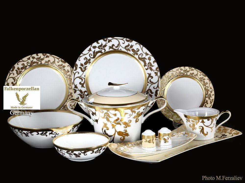 Фарфоровый столовый сервиз из 27 предметов Tosca Creme Gold