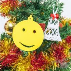 Набор из 6 деревянных игрушек-украшений на елку Смайлики