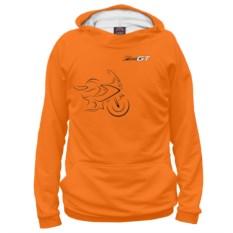Женское худи оранжевого цвета