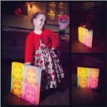 3D светильник из детских фотографий Поп-арт