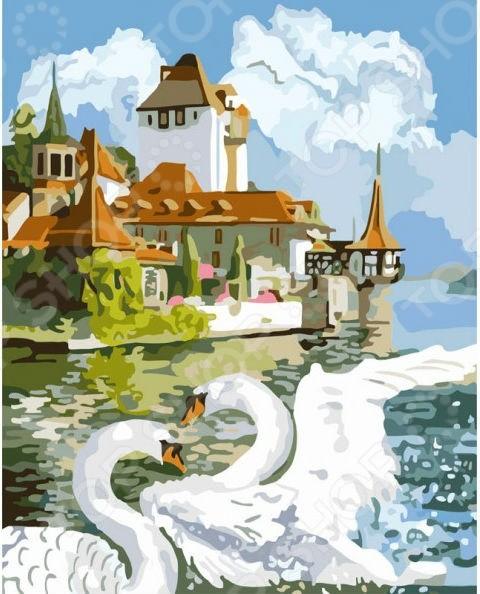 Набор для живописи по номерам Белоснежка Лебединая пара