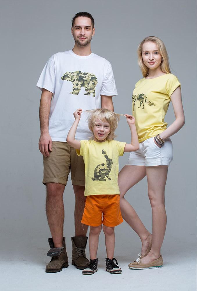 Комплект футболок Military для мамы, папы и ребенка