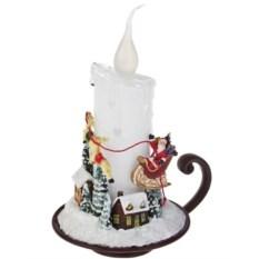 Украшение новогоднее светящееся Свеча с Дедом Морозом