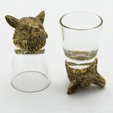 Набор рюмок-перевертышей с головами животных Лиса