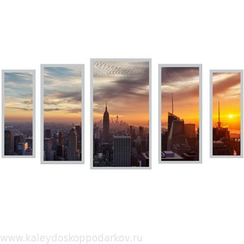 Настенная картина триптих из песка New York