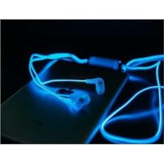 Синие светящиеся наушники EL