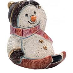Скульптура Снеговик на санках