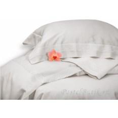 Светло-серое постельное белье Кастом