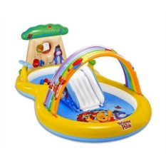Надувной игровой центр Винни с горкой для детей от 2 лет