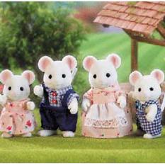Игровой набор Sylvanian Families Семья Белых мышей